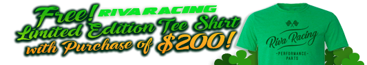 Free RIVA Racing T-Shirt With purchase of $200