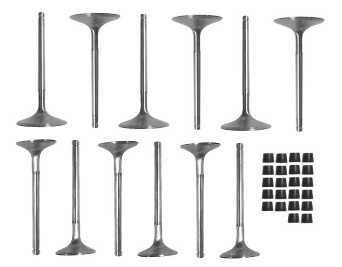 CALTRIC CYLINDER HEAD INTAKE EXHAUST VALVE KIT compatible with SEADOO RXT 215 230 255 260 2008-2019