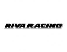 RIVA Racing - RIVA DECAL,RIVA RACING, Straight,18IN, BLACK/WHITE