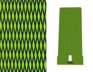 Hydro-Turf - Hydro-Turf Mat Kit Kawasaki 650SX Cut Diamond Lime Green on Black - Peel & Stick