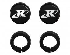 RIVA Racing - ODI Grip- RIVA End Cap & Clamp Kit - Black - Image 1
