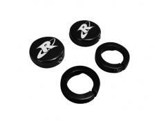 RIVA Racing - ODI Grip- RIVA End Cap & Clamp Kit - Black - Image 2