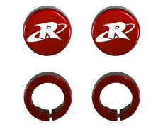 RIVA Racing - ODI Grip- RIVA End Cap & Clamp Kit - Red - Image 1