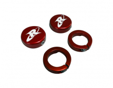 RIVA Racing - ODI Grip- RIVA End Cap & Clamp Kit - Red - Image 2