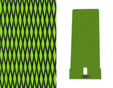 Hydro-Turf - Hydro-Turf Mat Kit Kawasaki 650SX Cut Diamond Lime Green on Black - Peel & Stick - Image 1